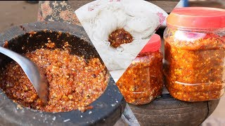 Khmer Original Style How To Make Chili Sauce To East With Khmer Noodle and Fish Good Test