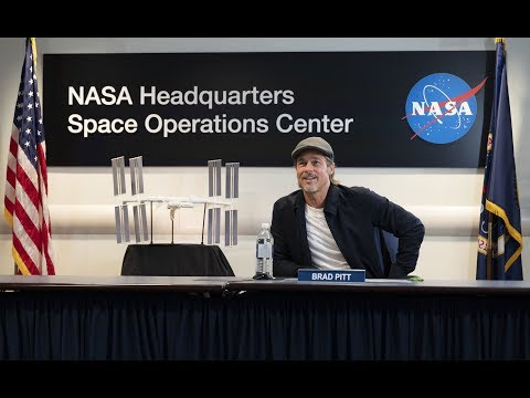 Brad Pitt Speaks with NASA Astronaut Nick Hague Aboard the International Space Station