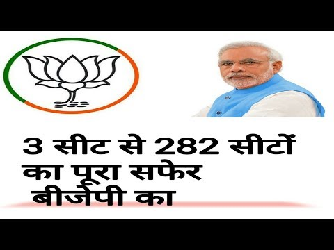BJP HISTORY FROM 3 SEATS TO 282 SEATS IN HINDI
