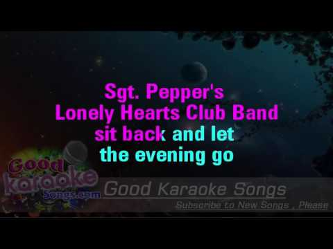 Sgt  Pepper's Lonely Hearts Club Band - The Beatles(Lyrics karaoke)