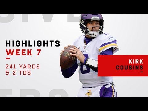 Kirk Cousins Highlights vs. Jets