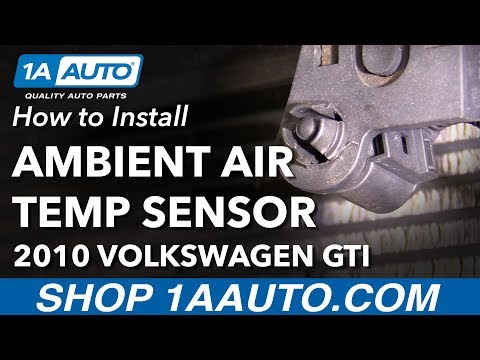 How to Replace Ambient Air Temp Sensor 10-14 Volkswagen GTI