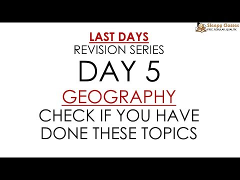 Day 5 (Topic List Only) - GEOGRAPHY for Prelims    UPSC    IAS