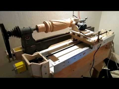 Arduino Controlled Router Lathe New Lead Screw Youtube