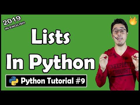 Lists in Python | Python Tutorial #9 thumbnail