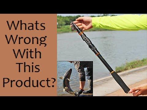 Sougayilang Spinning Telescopic Fishing Rod Graphite Carbon Fiber
