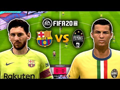 FIFA 20 MESSI VS RONALDO! PIEMONTE CALCIO vs FC BARCA!