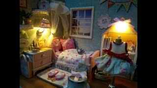 DIY Miniature Dollhouse - Mô hình nhà gỗ - nhà búp bê - Đồ chơi cho bé (HNK)