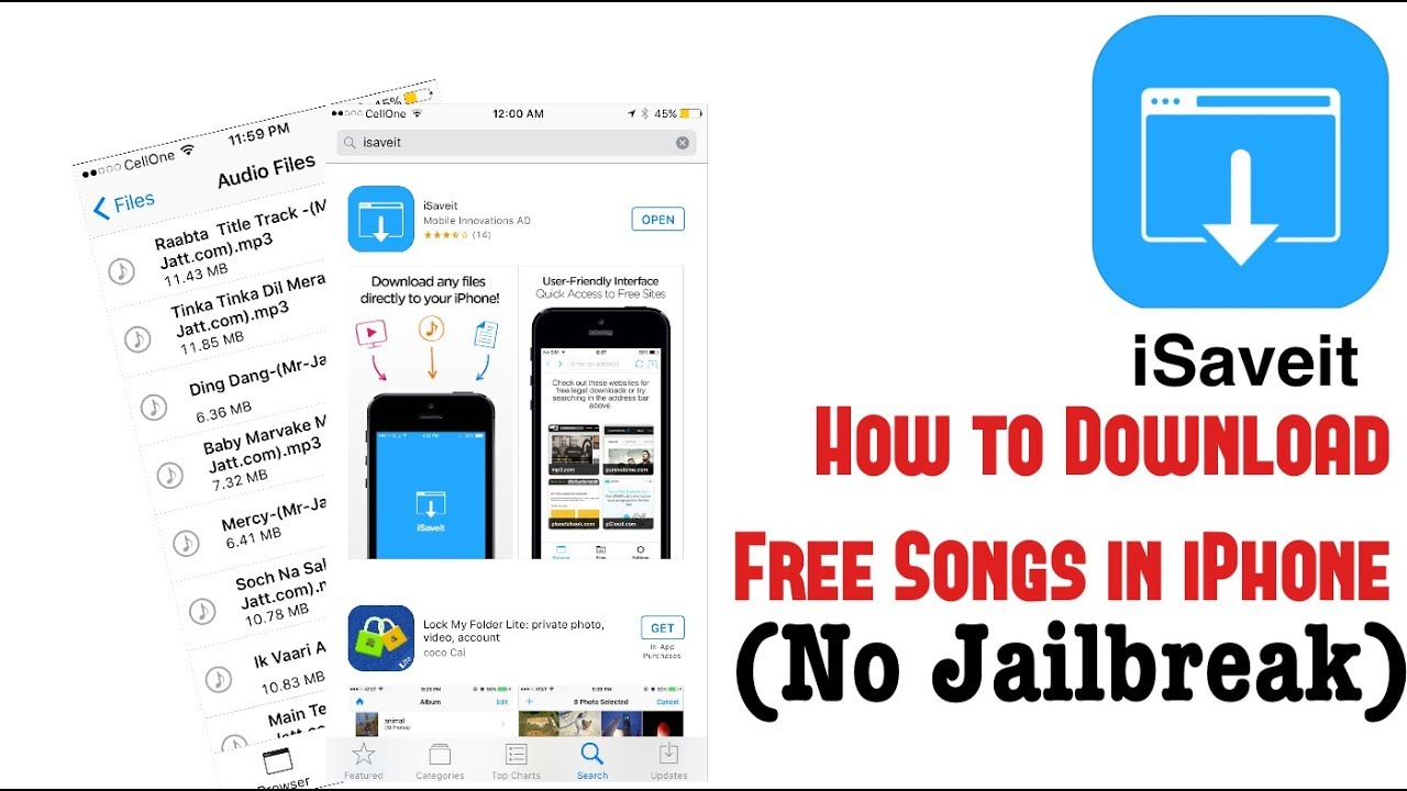 How to download FREE Songs in iPhone (No Jailbreak ...