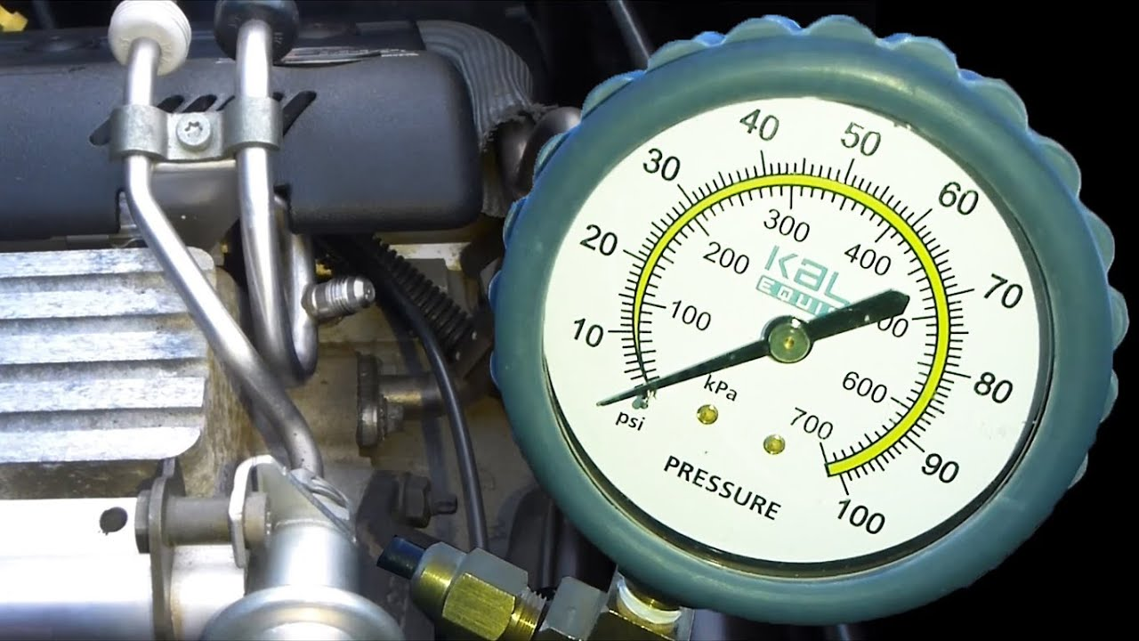 hight resolution of fuel pressure test