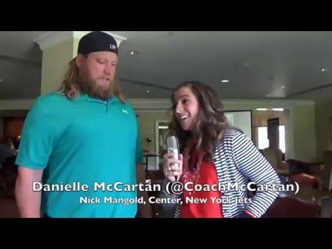 Danielle McCartan and Nick Mangold