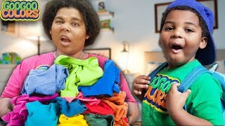 GOO GOO MOM CLEAN UP! Learn to clean with my family!