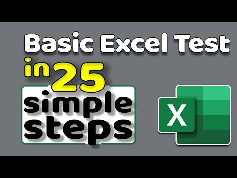 How To Pass Basic Excel Assessment Test