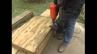 How To Build A Pergola- 6.plywood Sides For Building Pergola