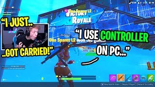 I got CARRIED by a kid using controller on PC Fortnite... (He has 905 WINS!)