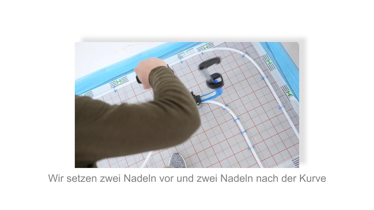 fußbodenheizung verlegen - kapitel 5 tackersystem - youtube