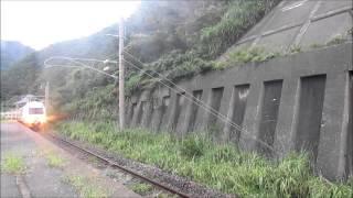 JR羽越本線五十川駅羽越本線特急いなほ2号E653系通過