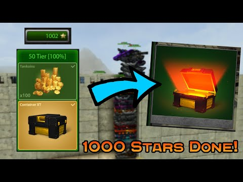 Tanki Online - 1000 STARS FINISHED! | SKIN CONTAINER OPENING | APRIL CHALLENGE II