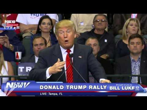 FNN: FULL Donald Trump in Tampa, FL