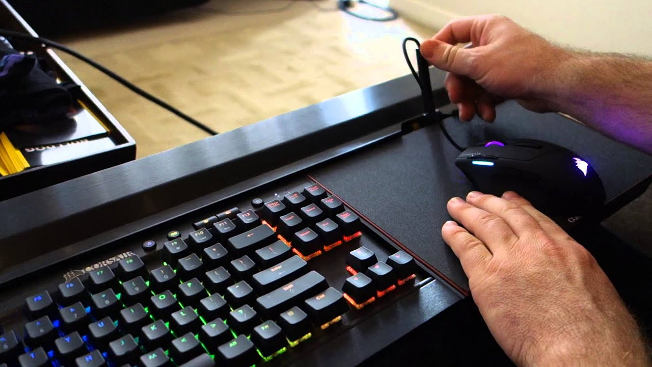 Corsair Shows Off Its Lapdog Living Room Keyboard And Mouse Setup Computex 2015