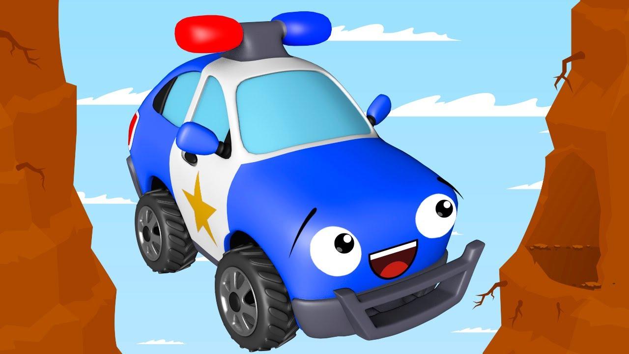 Carros infantiles - Coche de Policía y Servicio de coche - Coches para niños - Caricatura de carros