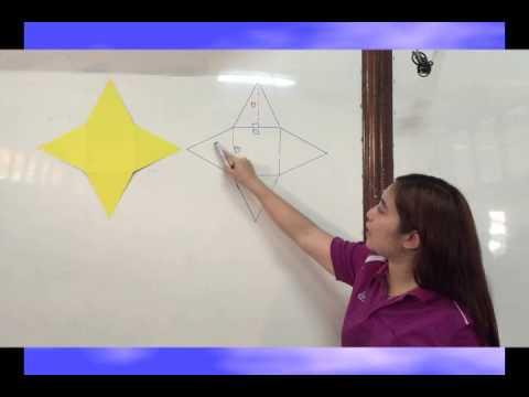 Pyramid square base  การหาพื้นที่ผิวของพีระมิดฐานสี่เหลี่ยมจัตุรัส