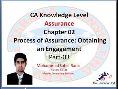 Assurance - Process of Assurance: Obtaining an Engagement - Chapter 02 - Part-3