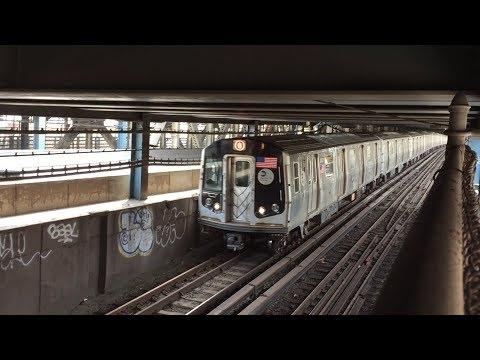 NYC Subway HD 60fps: Kawasaki R160B Alstom & Siemens N & Q Trains On The Manhattan Bridge (5/7/18)
