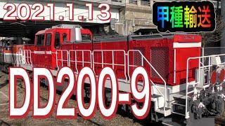 【甲種輸送】JR貨物DD200形ディーゼル機関車/JR Freight Class DD200  2021.1.13