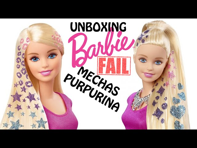 UNBOXING   BARBIE MECHAS PURPURINA...FAIL!