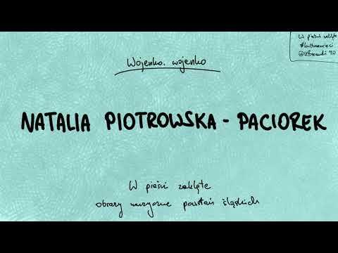 W pieśni zaklęte – obrazy muzyczne powstań śląskich – Wojenko, wojenko – Natalia Piotrowska-Paciorek. #kulturawsieci 2020