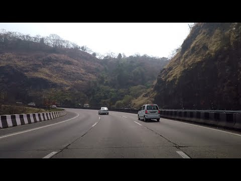 Driving on Mumbai–Pune Expressway - Maharashtra, India