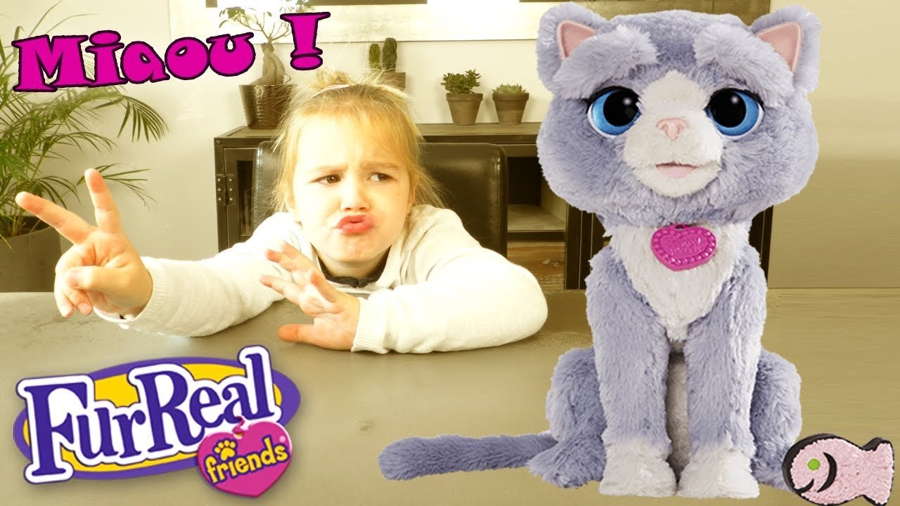 Furreal friends hasbro b5936 bootsie mon chat robot unboxing youtube - Moustache mon chat hasbro ...