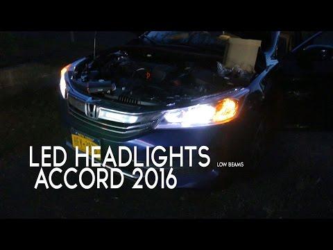 Honda accord 2016 LED Headlights - OPT7 (HID Compared)