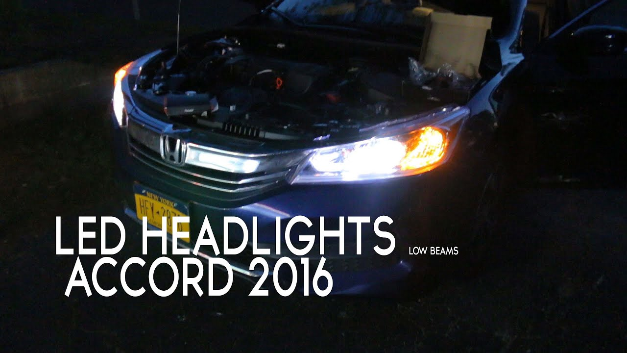 Honda accord led headlights opt hid compared also youtube rh