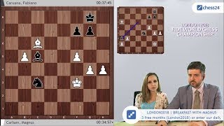 Magnus Carlsen vs Fabiano Caruana / FIDE World Chess Championship 2018 / Game 6