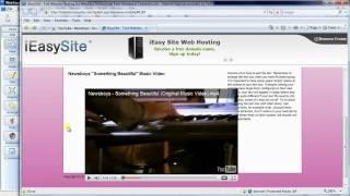 Embedding a YouTube video into Web Easy 8