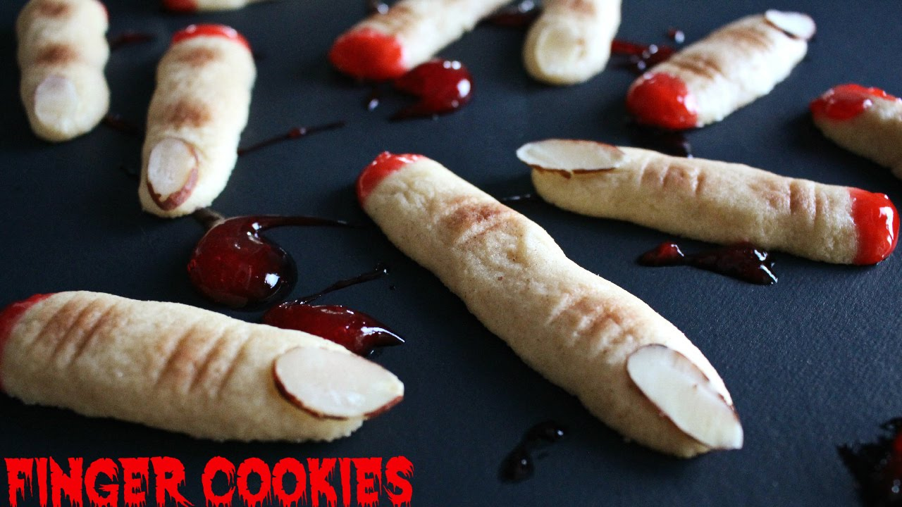 halloween finger cookies recipe - how to make severed fingers - youtube
