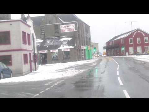 Shetland. A wee run around Lerwick in the snow 31-01-10.MP4