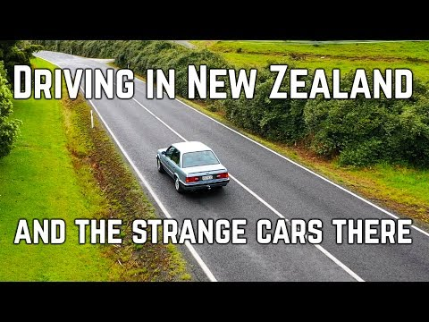 Driving in New Zealand and the strange cars there