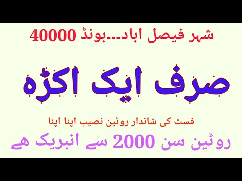 Siraf  Aik  Akra  First  City  Faisalabad  40.000