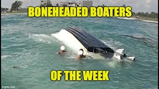 Boneheaded Boaters of the Week | Jet Skier's Rescue Family From Capsized Boat!
