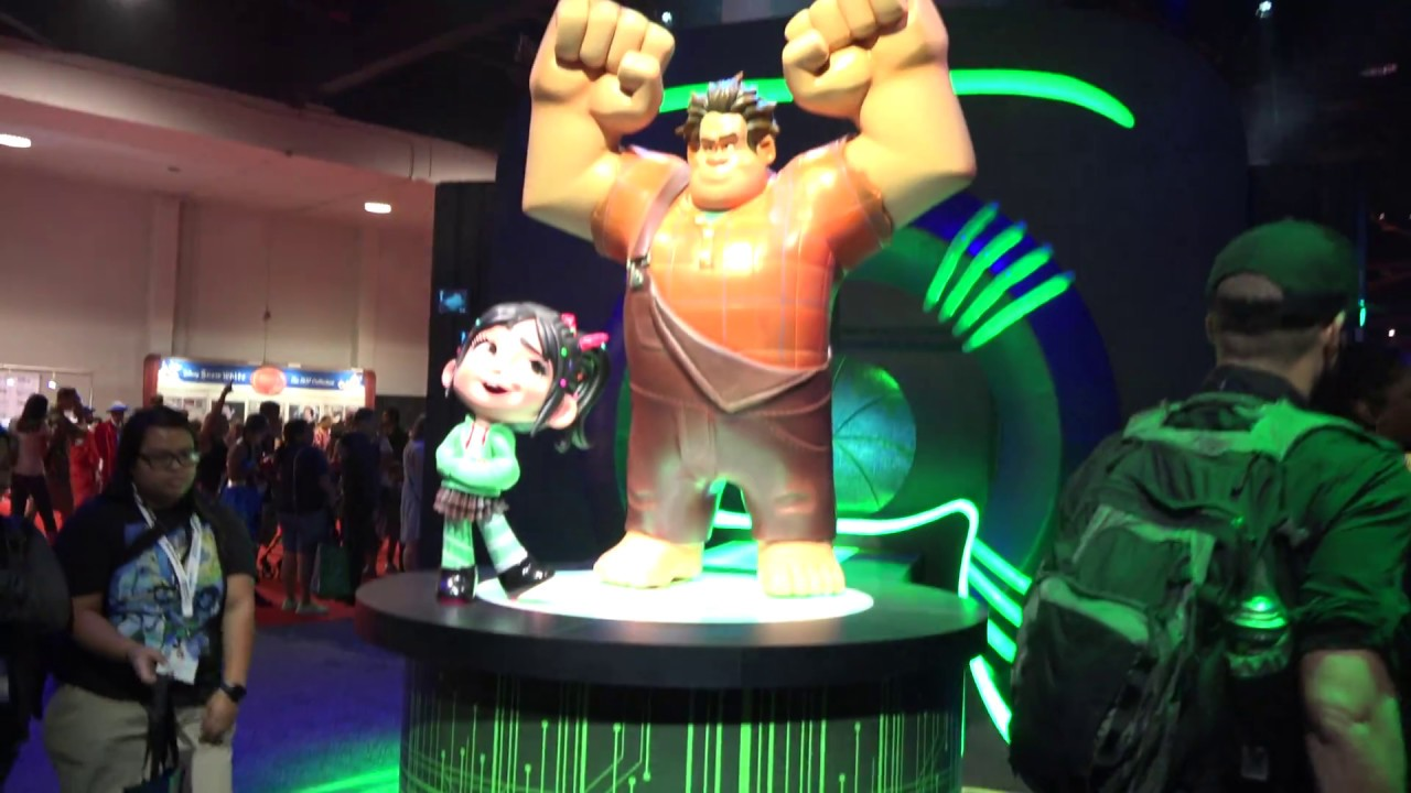 D23 expo 2017, Anaheim, Pixar Booth Flyby, Toy Story 4 ... Wreck It Ralph Trailer Toy Story