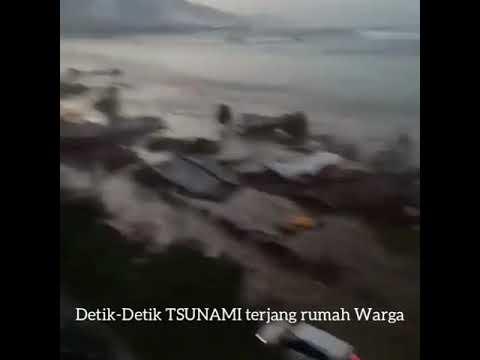Video Detik-Detik TSUNAMI, Gempa SulTeng. Terjang RUMAH warga