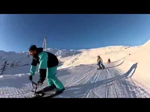 Снегокаты STIGA, прикольное видео