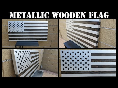 How To Make A METALLIC Wooden American Flag! | DIY