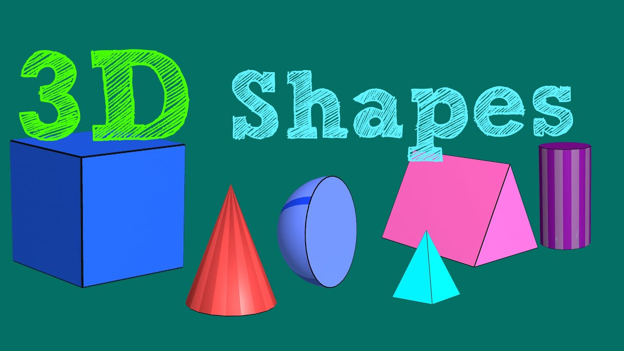 3D Shapes For Kids - Little Star TV - YouTube
