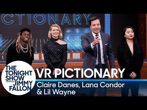 Virtual Reality Pictionary WithClaire Danes, Lana Condor And Lil Wayne