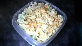 Pakistani Desi Food  Chicken Macaroni Salad Recipe Part-2 (aamna's Kitchen)
