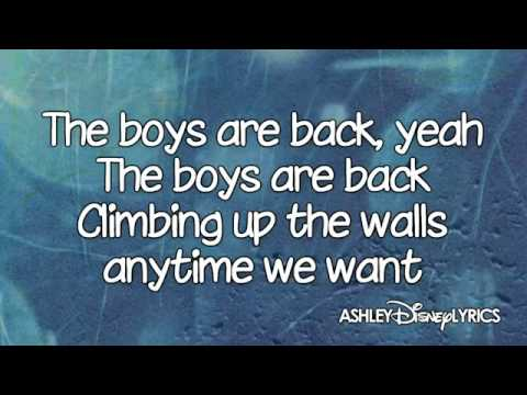 High School Musical   The Boys Are Back Lyrics Video) HD